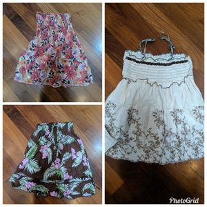 Tops - Three sleevess floral tops